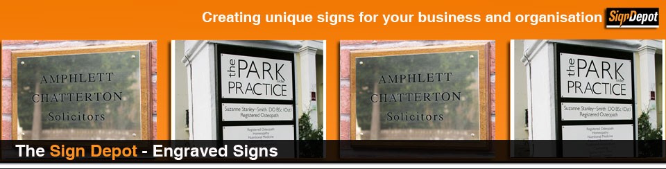 signs - engraved signs