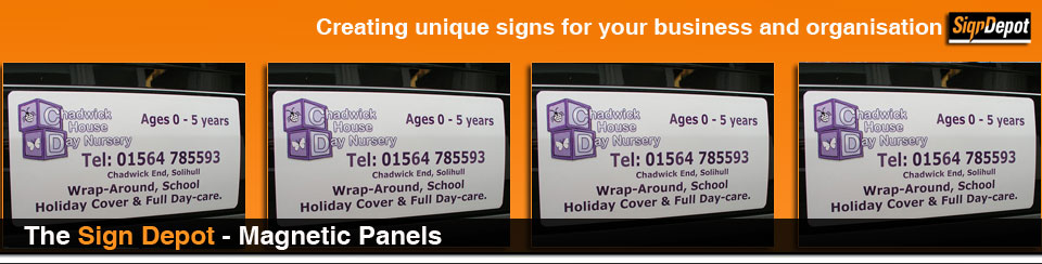 signs - magnetic panels