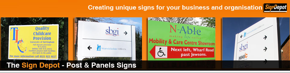 signs - post and panel signs